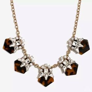 Tortoise and crystal statement necklace